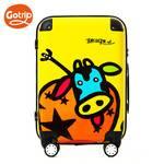 GOTRIP旅行可爱卡通旅行箱包奶牛印花万向轮拉杆箱女万向轮20英寸