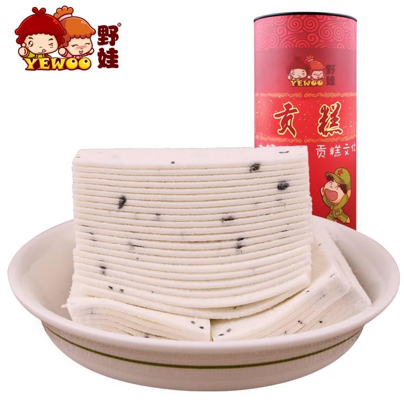 【野娃】休闲零食糕点安徽怀宁贡糕方片喜糕400g罐