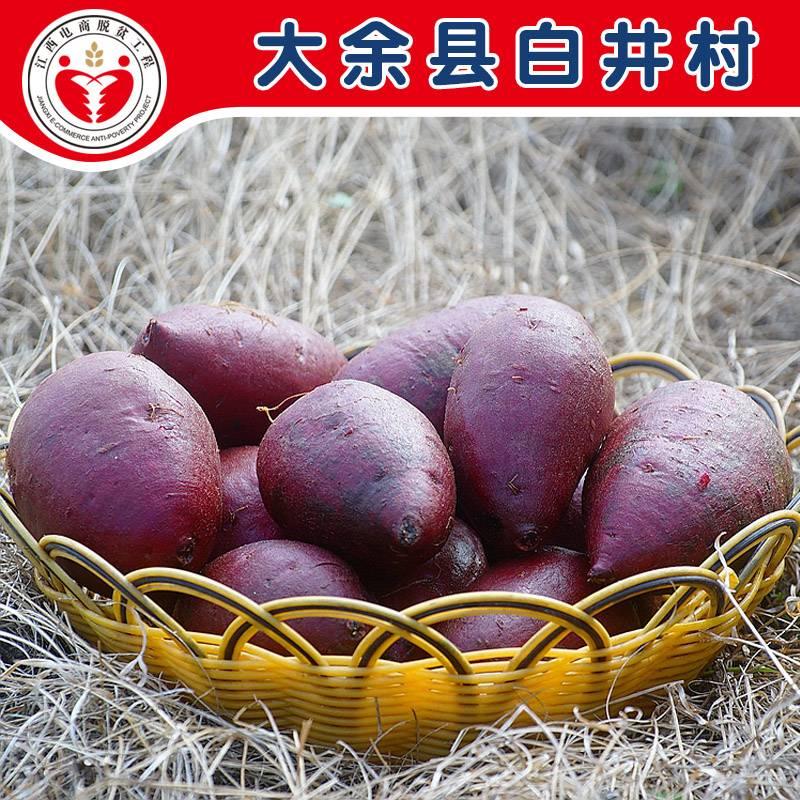 电商公益扶贫 大余县白井村 农家紫薯 5斤装