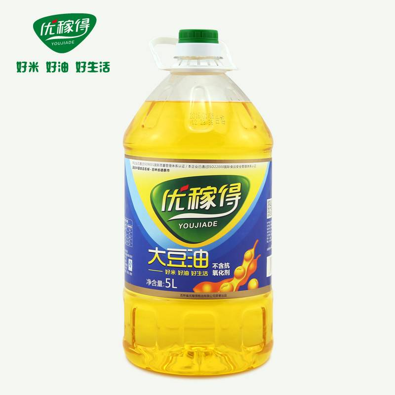 优稼得 大豆油一级 色拉油 5L