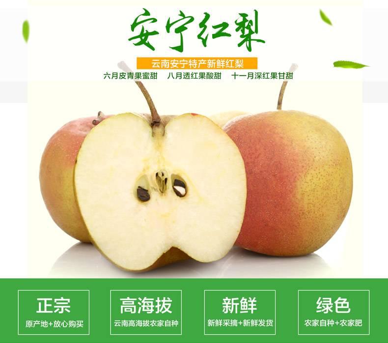 农家自产  安宁红梨 5公斤礼盒装 云南助农产品