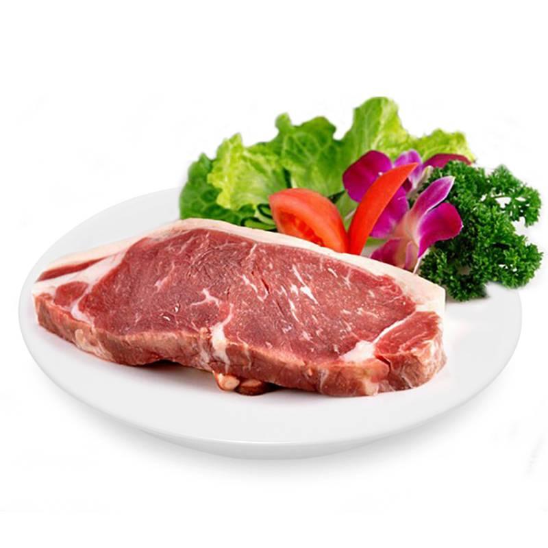 新疆牛肉 生鲜牛西冷2斤 新鲜牛外脊肉 原切牛扒 草原清真牛肉 未腌制西冷牛排