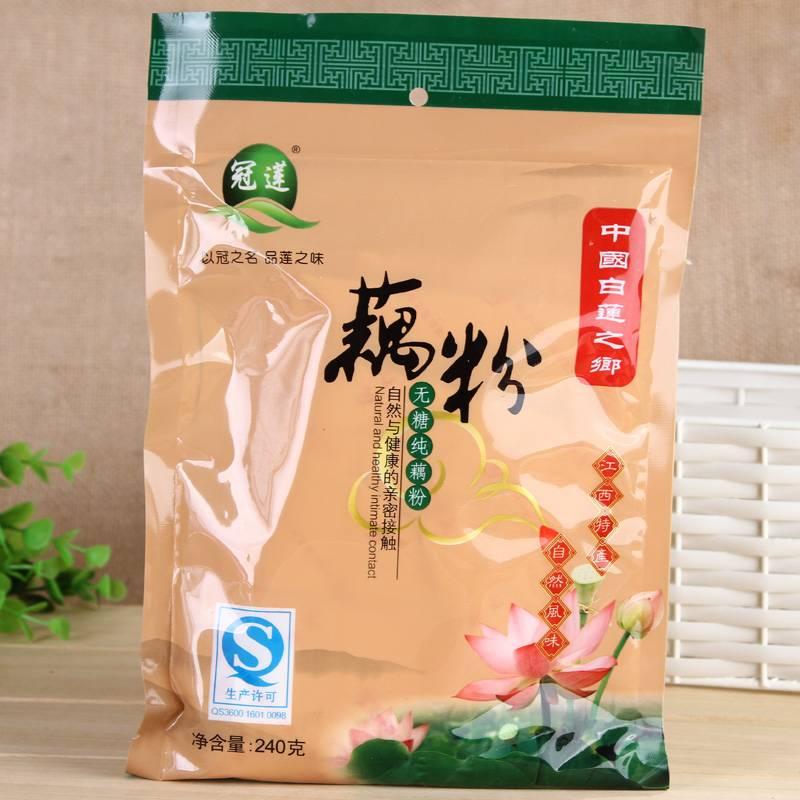 冠莲 中国白莲之乡江西广昌无糖纯藕粉 240克*2袋