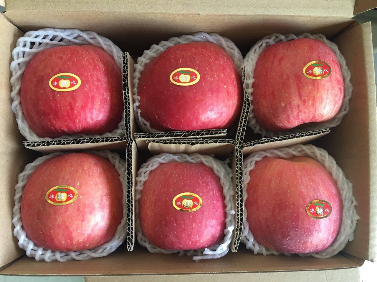 农家自产凤阁岭红富士苹果6个85#精选装24.8包邮